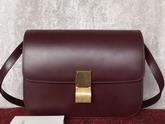 Celine Box in Bordeaux Smooth Calfskin for Sale