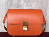 Celine Box in Orange Smooth Calfskin for Sale