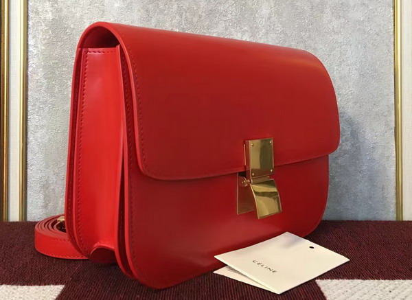Celine Box in Red Smooth Leather for Sale