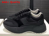 Celine Delivery Running Sneaker in Black Calfskin and Suede Calfskin and Technical Fabrics Replica