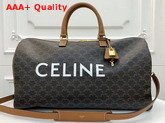 Celine Large Voyage Bag in Triomphe Canvas Replica