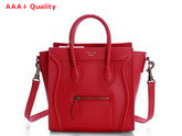 Celine Luggage Nano in Red Calfskin for Sale