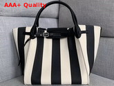 Celine Medium Big Bag in Large Striped Textile Black and White Replica