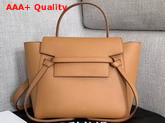 Celine Micro Belt Bag in Tan Grained Calfskin Replica