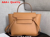 Celine Nano Belt Bag in Tan Grained Calfskin Replica
