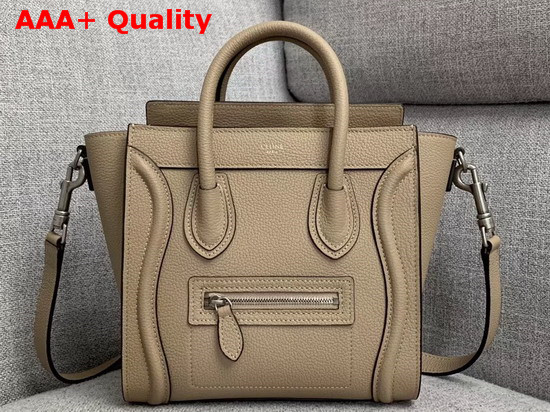 Celine Nano Luggage Bag in Souris Drummed Calfskin Replica
