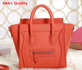 Celine Luggage Nano in Orange Real Leather for Sale