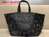 Celine Patchwork Medium in Textile and Leather Dark Green and Black Replica