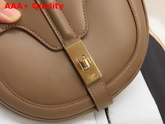Celine Small Besace 16 Bag in Light Tan Satinated Calfskin Replica