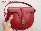 Celine Small Besace 16 Bag in Red Satinated Calfskin Replica