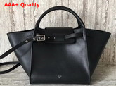 Celine Small Big Bag in Black Smooth Calfskin Replica