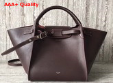 Celine Small Big Bag in Burgundy Smooth Calfskin Replica