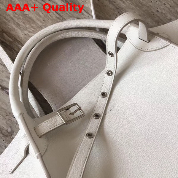 Celine Small Big Bag in White Grained Calfskin Replica