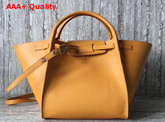 Celine Small Big Bag in Yellow Smooth Calfskin Replica