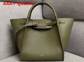 Celine Small Big Bag with Long Strap in Army Green Smooth Calfskin Replica