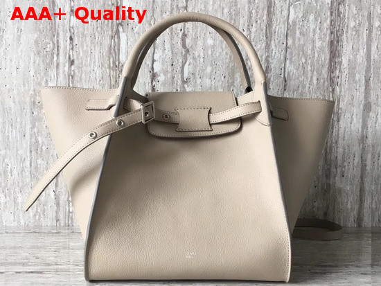 Celine Small Big Bag with Long Strap in Light Taupe Supple Grained Calfskin Replica