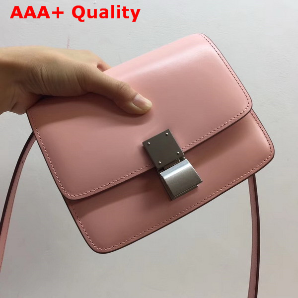 Celine Small Box Bag in Light Pink Box Leather Replica