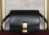 Celine Small Box Black Smooth Calfskin For Sale