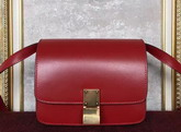 Celine Small Box Red Smooth Calfskin For Sale