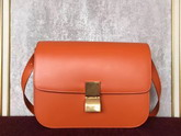 Celine Small Box in Orange Smooth Calf Leather For Sale