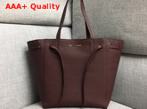 Celine Small Cabas Phantom in Burgundy Soft Grained Calfskin Replica