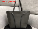 Celine Small Cabas Phantom in Dark Grey Soft Grained Calfskin Replica