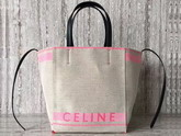 Celine Small Cabas Phantom in Dark Pink Celine Canvas For Sale