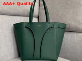 Celine Small Cabas Phantom in Green Soft Grained Calfskin Replica