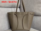 Celine Small Cabas Phantom in Grey Soft Grained Calfskin Replica