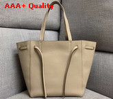Celine Small Cabas Phantom in Light Grey Soft Grained Calfskin Replica