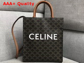 Celine Small Cabas Vertical in Triomphe Canvas Tan Replica