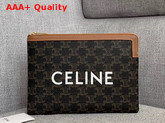 Celine Small Pouch in Triomphe Canvas Replica
