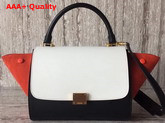 Celine Small Trapeze Bag in Multicolour Smooth Calfskin and Suede Calfskin Replica