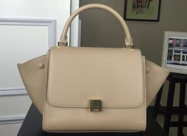 Celine Small Trapeze Handbag in Beige Smooth Calfskin for Sale