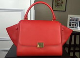 Celine Small Trapeze Handbag in Red Smooth Calfskin for Sale