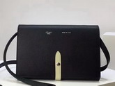 Celine Strap Clutch in Black Grained and Chalk Shiny Calfskin For Sale