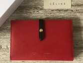 Celine Strap Large Multifunction in Red Grained and Shiny calfskin For Sale