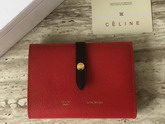 Celine Strap Medium Multifunction in Red Grained and Shiny calfskin For Sale