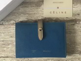 Celine Strap Medium Multifunction in Steel Blue Grained and Shiny calfskin For Sale