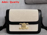 Celine Triomphe Bag in Textile and Natural Calfskin Black and White Replica