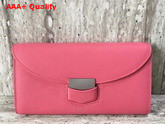 Celine Trotteur Large Flap Multifunction in Pink Grained Calfskin Replica