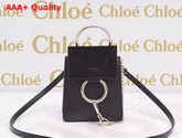Chloe Black Mini Faye Bag Black Suede Leather and Smooth Calf Leather Replica