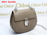 Chloe Drew Bag Grey Grained Lambskin Silver Hardware Replica