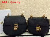 Chloe Drew Bag In Black Grained Leather Replica