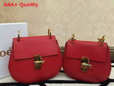 Chloe Drew Bag In Red Grained Leather Replica