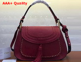 Chloe Hudson Large Bag in Red Smooth Calfskin Replica