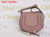 Marcie Small Saddle Bag In Grained Calfskin Blush Nude Replica