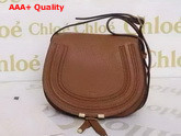 Chloe Marcie Saddle Bag In Brown Grained Calfskin Replica