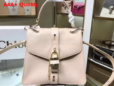 Chloe Medium Aby Day Bag in Beige Grained and Shiny Calfskin Replica