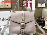 Chloe Medium Aby Day Bag in Motty Grey Grained and Shiny Calfskin Replica